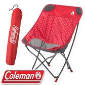 【Coleman 美國 療癒椅 〈圓點紅〉】CM-31284/摺疊椅/露營椅/導演椅★滿額送