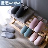 棉拖鞋冬天室內保暖防滑厚底居家用情侶包跟毛拖鞋女冬季【限時八折】
