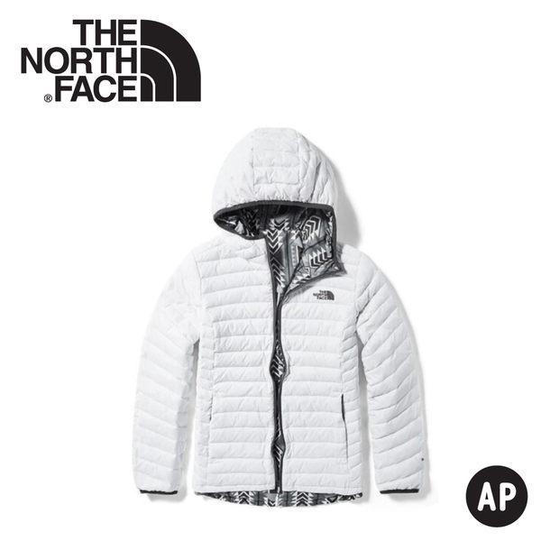 【The North Face 女 FP700羽絨雙面外套《白》】3KTM/羽絨衣/保暖外套/防風外套