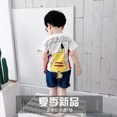 兒童T恤 寶寶短袖T恤洋氣男童卡通打底衫上衣韓版 巴黎春天