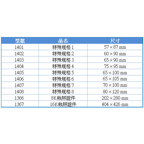 《萬事捷》亮面護貝膠膜 ( 特殊規格 3 ) (1403) (護貝機/護貝)