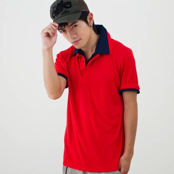 男款3M吸濕排汗POLO衫 素面POLO衫 紅色