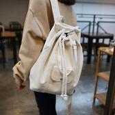 後背包抽繩文藝范學院風女大容量多用水桶手提包 XY1120  【棉花糖伊人】
