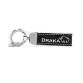 【南紡購物中心】DRAKA 達卡 - 職人手作系列-真皮鑰匙圈-素面