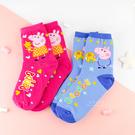佩佩豬長版童襪 短筒襪 短襪 童襪 卡通印花襪