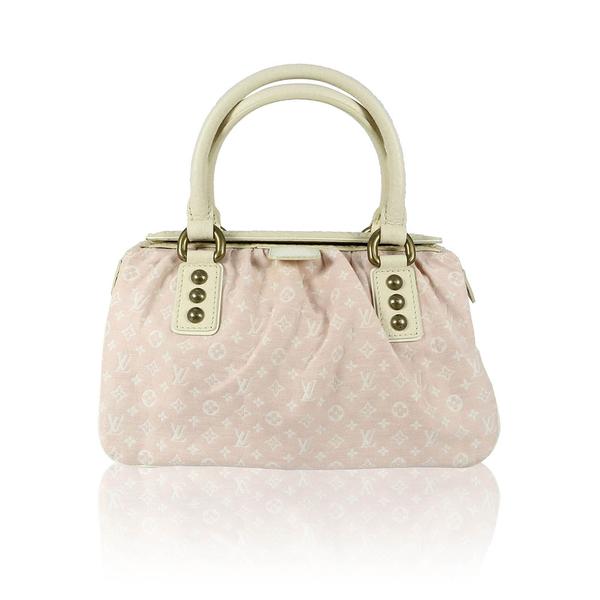 【LV】L粉色 丹寧 上蓋 手提包 M40062
