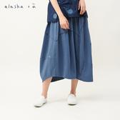 a la sha+a 圓形創意剪接配色長裙