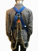背負式安全帶工業用全身背後掛繩安全帶鋁合金超輕量雙鉤掛繩