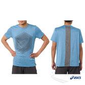 亞瑟士ASICS 男短袖T恤(藍) ASICSMOTIONDRY機能 乾爽舒適 151414-0826【 胖媛的店 】