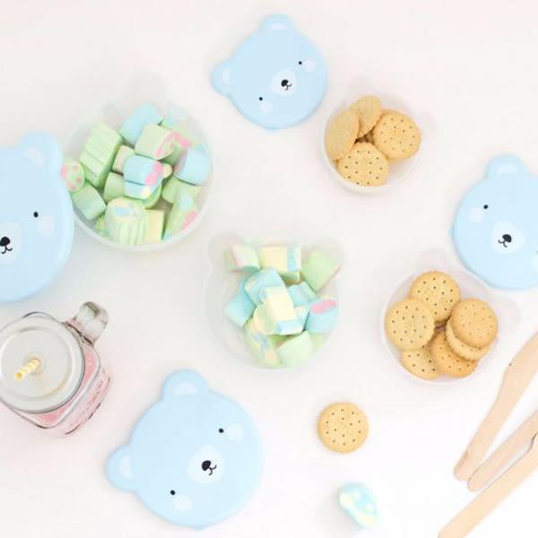 荷蘭a little lovely company療癒粉藍熊野餐盒/零食盒(4入)