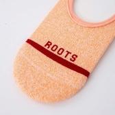Roots配件- 條紋隱形襪 (女) - 橘色