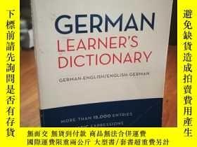 二手書博民逛書店German罕見Learner s Dictionary 德語學