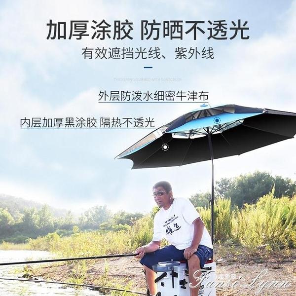 漢鼎釣魚傘2.2米摺疊晴雨兩用釣傘雙層加固萬象遮陽傘漁具用品 HM 范思蓮恩