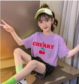 男女童裝小雛菊短袖T恤兒童夏裝中大童上衣寬鬆純棉寶寶半袖夏季6 滿天星