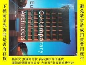 二手書博民逛書店contemporary罕見european architect