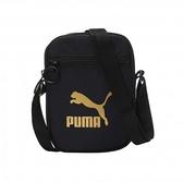 PUMA Originals黑色金LOGO側背包-NO.07692701