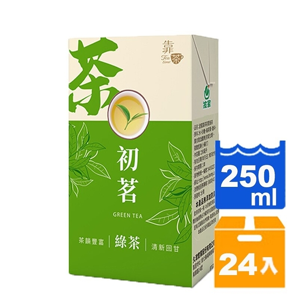 靠茶初茗綠茶250ml(24入)/箱 【康鄰超市】