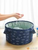洗腳桶 便攜式可折疊水盆大號旅行泡腳袋洗衣盆戶外水盆洗漱臉盆洗腳水桶 雅楓居