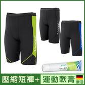 運動機能壓縮 短褲 壓力褲 男款 II代 超值組合 + 運動舒緩 軟膏 德國樂活 ROWO Sport-Gel 減少肌肉痠痛