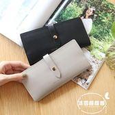 新款日韓長款女士錢包 純色韓版多卡位時尚折疊學生高檔錢夾