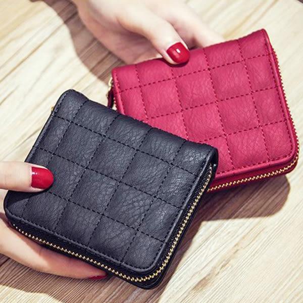 韓版迷你可愛小錢包皮夾 短夾 學生 錢夾 零錢包 兩折 閨蜜 可愛 小包