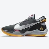 Nike ZOOM FREAK 2 EP 男鞋 籃球 字母哥二代 緩震 穩定 氣墊 靈敏 灰黑黃【運動世界】CK5825-006