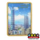 【收藏天地】台灣紀念品*木頭3D立體風景冰箱貼-台北的天空