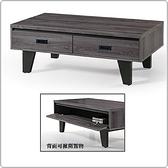 【水晶晶家具/傢俱首選】HT1682-1 凱瑞4呎黑桐木色全木心板大茶几
