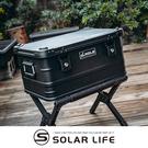 ANGLE 鋁製收納箱 47公升 多功能露營鋁箱-黑色.鋁合金裝備箱 露營收納箱 戶外置物箱 軍風儲物箱