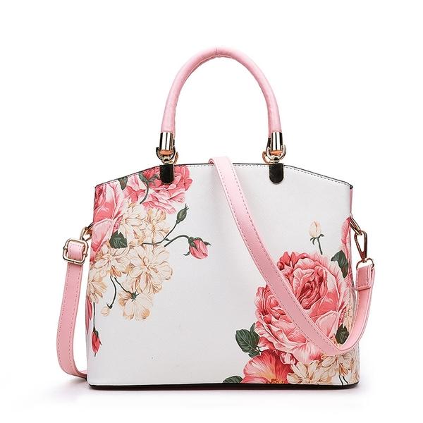 簡約韓系小清新媽媽女單肩包 女生百搭大容量斜挎皮包 潮流時尚女包包手提包 大包包女士手提包