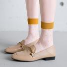 促銷 襪子女中筒襪韓版波點玻璃襪玻璃絲襪日系水晶絲透明薄款夏季圓點