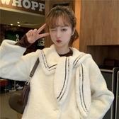 加厚保暖羊羔毛外套女冬裝新款韓版時尚百搭矮個子洋氣毛茸茸棉衣 雅楓居