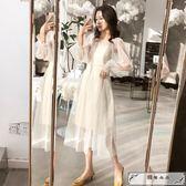 洋裝 吊帶網紗仙女裙超仙兩件套2019流行裙子春夏很仙的法國小眾連衣裙