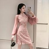 旗袍主播服裝女2020年秋裝新款氣質少女旗袍復古年輕款改良版連身裙潮 童趣屋