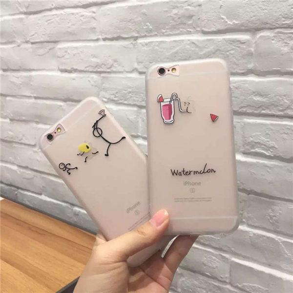 【SZ13】iphone 6 plus手機殼 暢飲三人行磨砂軟殼 iphone 6s 手機殼