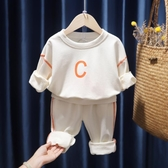 寶寶純棉套裝兒童運動休閒衛衣新款春秋裝男女童洋氣兩件套潮 【快速出貨】