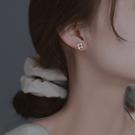 耳環 S925純銀耳釘女小巧精致2021年新款潮小眾氣質耳環高級感耳飾2021 晶彩 99免運