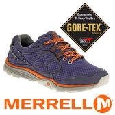 美國 MERRELL 女 越野健行鞋 VERTERRA SPORT GORE-TEX 1101726 藍紫/橘 慢跑│健行│休閒鞋