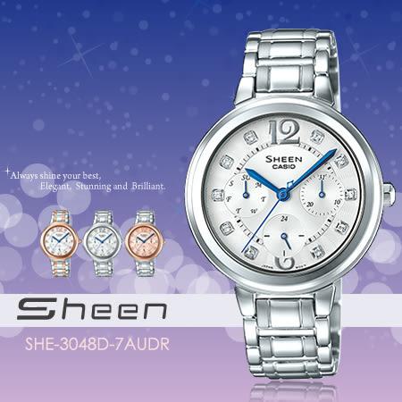 SHEEN SHE-3048D-7A 奢華女錶 SHE-3048D-7AUDR 現貨!