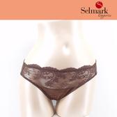 selmark出清-蕾絲M-XL三角褲(咖啡)S0402