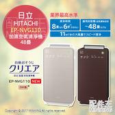 【配件王】日本代購 日本製 2017年 HITACHI 日立 EP-NVG110 加濕空氣清淨機 PM2.5 48疊