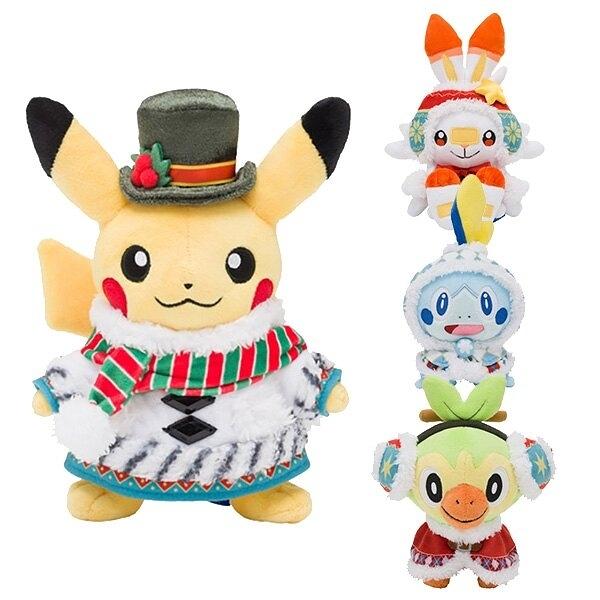 【2020 寶可夢 聖誕娃娃】寶可夢 2020 聖誕節限定 玩偶 娃娃 皮卡丘 伽勒爾 日本正版 該該貝比