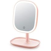 化妝鏡化妝鏡臺式LED帶燈宿舍桌面梳妝鏡女網紅便攜隨身補光美妝小鏡子 阿卡娜
