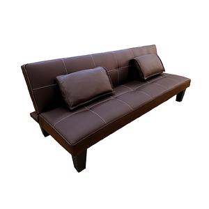 【JUSTBUY】奧斯陸多人座沙發床-DS0024皮革棕