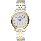 Olympia Star奧林比亞 小秒針女錶-白x雙色版/32mm 58088LSK