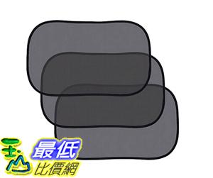 [106美國直購] 遮陽罩 Homitt Static Cling Car Window Sun Shades– 3 Pack Black
