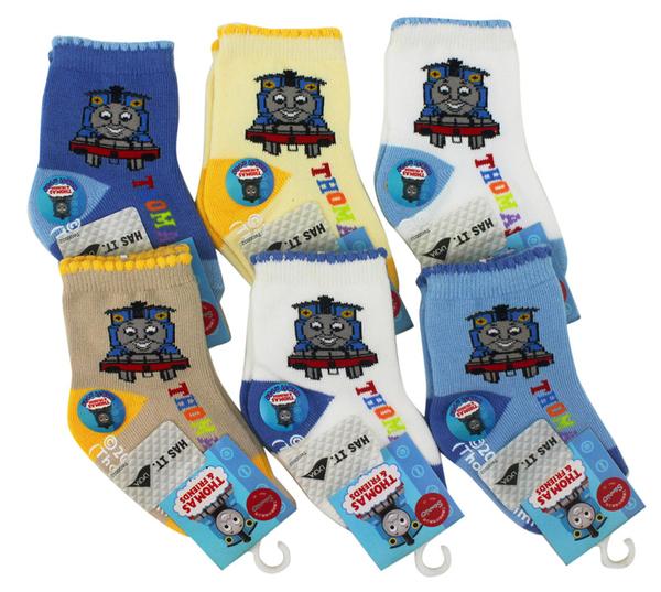【卡漫城】 Thomas 襪子 9-11cm 三雙組 半統 童襪 ㊣版 適用1-2歲 兒童 湯瑪士 小火車 蒸汽 台灣製