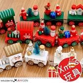 聖誕節木質卡通造型小火車擺件 交換禮物