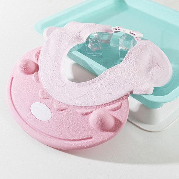 河馬造型 寶寶洗頭神器防水 護耳洗髮帽嬰兒洗頭帽兒童洗澡浴帽 店慶降價
