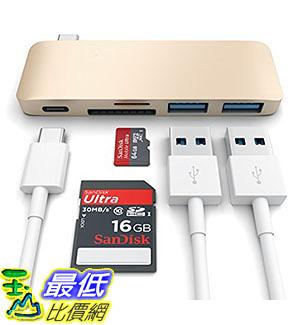 [105美國直購] Satechi Type-C 銀/粉色 集線器 USB 3.0 3 in 1 Combo Hub for MacBook 12-Inch (with USB -C Charging Port)